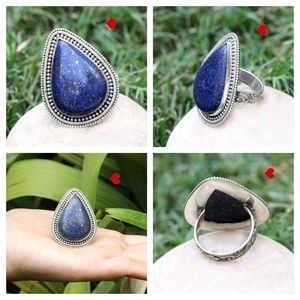 Lapis Lazuli Jewelry For Sale Cabochon Silver Ring